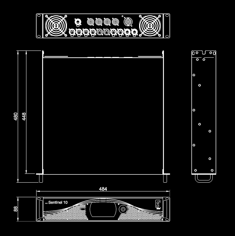 Sentinel10 Alcons Audio Att Amp T Rj45 Wiring Diagram Dimensional Drawing