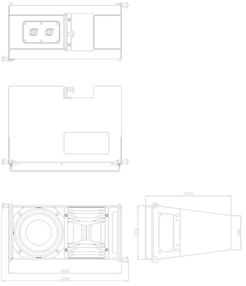 Lr7 120 Alcons Audio Line Array Speaker Wiring Diagram Dimensional Drawing
