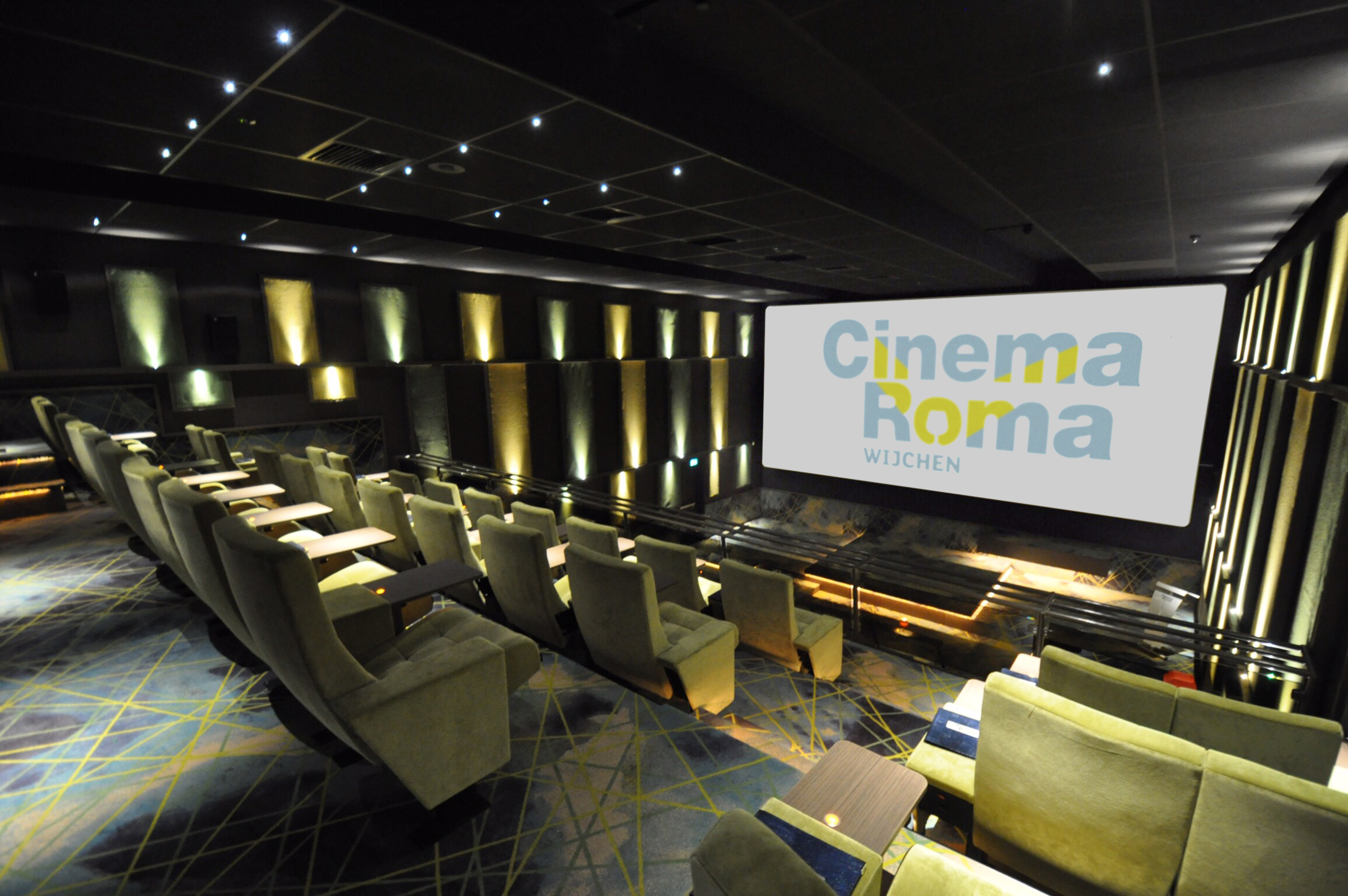 Cinema roma playing at a higher level alcons audio for Interior designer roma