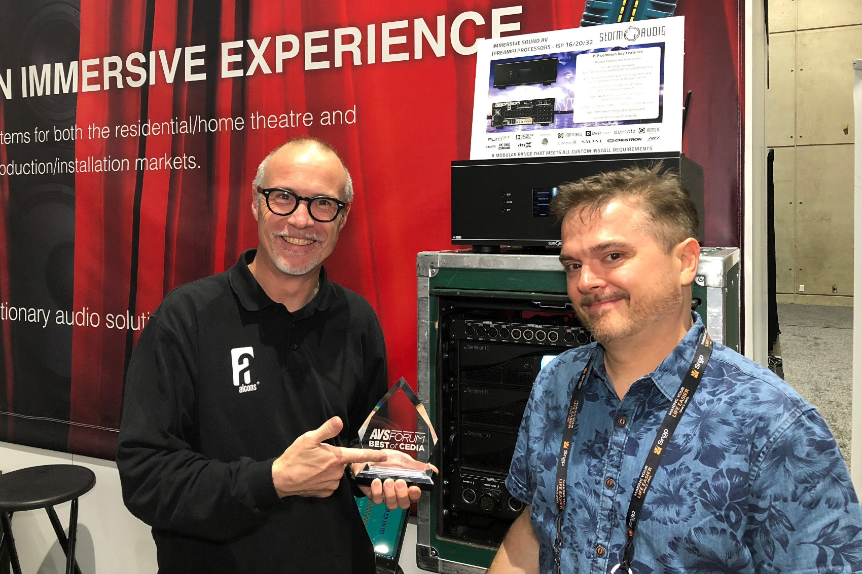 Tradeshow Alcons Audio What Does Your Wiring Cabinet Look Like Avs Forum Home Theater Tom And Mark With The Award