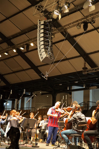 Nigel Kennedy with Alcons Audio at the Schleswig-Holstein Music Festival